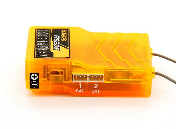 OrangeRx R920X 9Ch 2 4 GHz DSM2/DSMX Full Range Receiver w/Sat