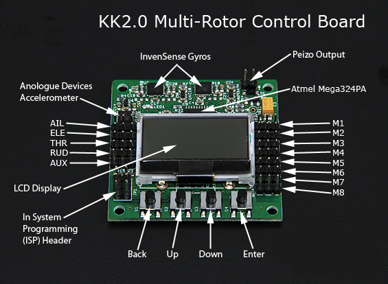 new kk2 0 multi rotor lcd flight control board > flight control new kk2 0 multi rotor lcd flight control board