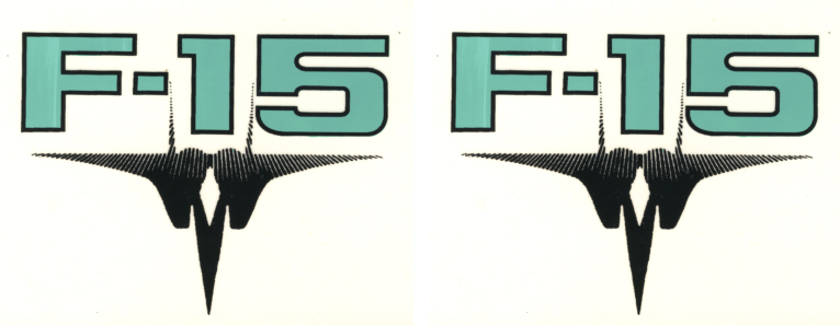 F 15 Decal Black And Mint On Clear Gt Logo S Gt Printed