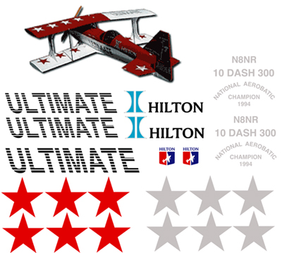Ultimate 10 Dash 300 Hilton Decal Sets Gt Scale