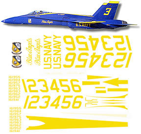 Blue Angels Hornet Decal Set Gt Jets Cnc Cut Vinyl Gt Cut